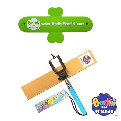 Picture of Bodhi and Friends - Silicone Mobile Stand &  Selfie Tool - Blue