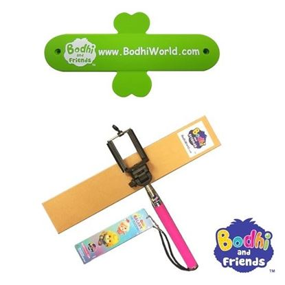 Picture of Bodhi and Friends - Silicone Mobile Stand &  Selfie Tool - Rose Red