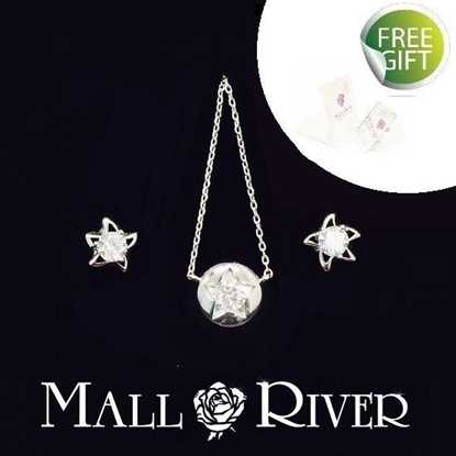 Picture of Mall River Enlightening Stars Jewellery Set, Grade 5A Cubic Zirconia