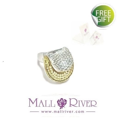 Picture of Mall River Golden Ring - Austrian Crystals #8