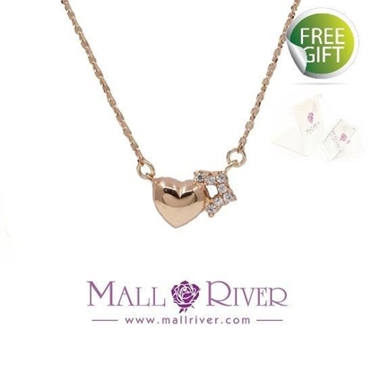 Picture of Mall River Heart with Star RG Necklace