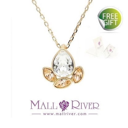 Picture of Mall River Light Peach Drop Necklace