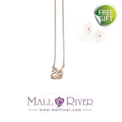 Picture of Mall River Royal Austrian Crystals Swan Necklace, Rose Gold