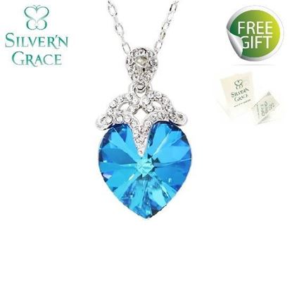 Picture of Silver'n Grace Blue Strawberry Necklace