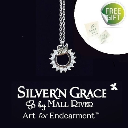 Picture of Silver'n Grace Swan Lake Necklace, Grade 5A Cubic Zirconia