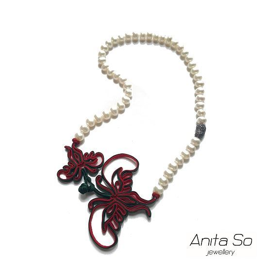 "Picture of Anita So ""Shanghai Renaissance"" Necklace (Red & Green)"