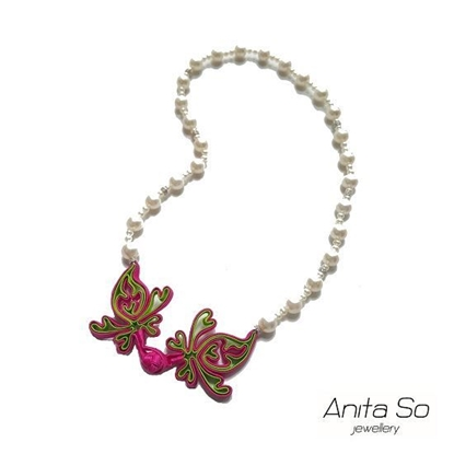 "Picture of Anita So ""Shanghai Renaissance"" Necklace (Green & Pink)"