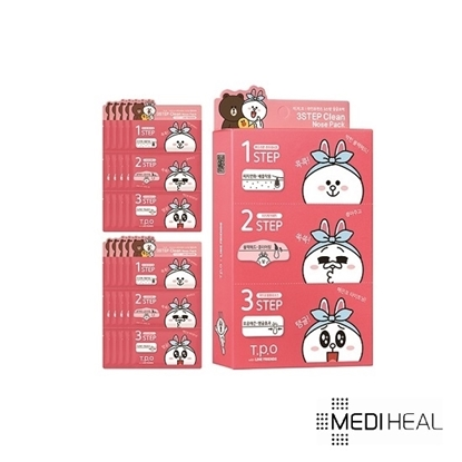 Picture of Mediheal T.P.O Line Friends 3 Step Clean Nose Pack 6g × 10