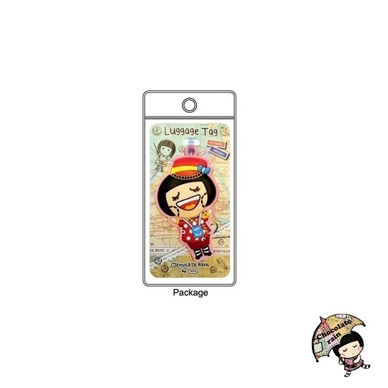 Picture of Chocolate Rain Luggage tag (Fatina)