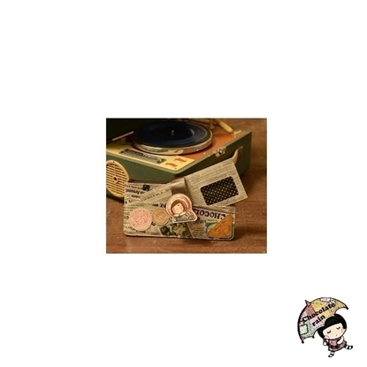 Picture of Chocolate Rain Wallet with Card Case (Journey)
