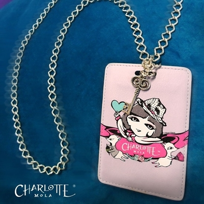 Picture of Charlotte Mola Card Holder with Chain Necklace - Charlotte and Moon Kii (for Working pass / Octopus card)