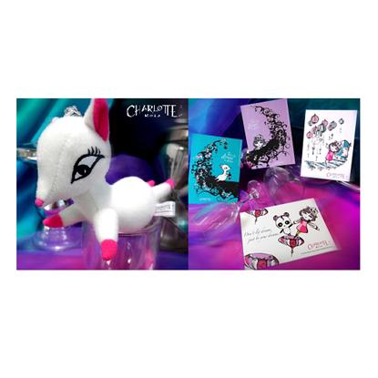 Picture of Charlotte Mola Moon Kii Plush Keychain & Postcard Set (4pcs)