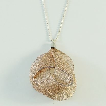 Picture of MIDOTI Knot Lots Silver Chain Necklace 1.0 Rose Gold