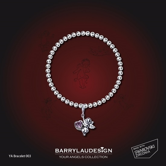Picture of Barry Lau Design - 'Give Heart Angel' Charm Bracelet (C)