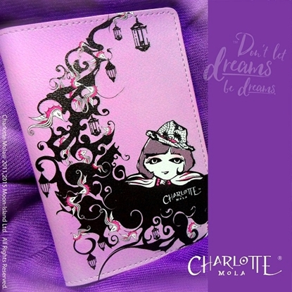 Picture of Charlotte Mola Passport Cover - Charlotte on the Moon