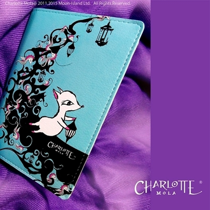 Picture of Charlotte Mola Passport Cover - Moonkii on the Moon