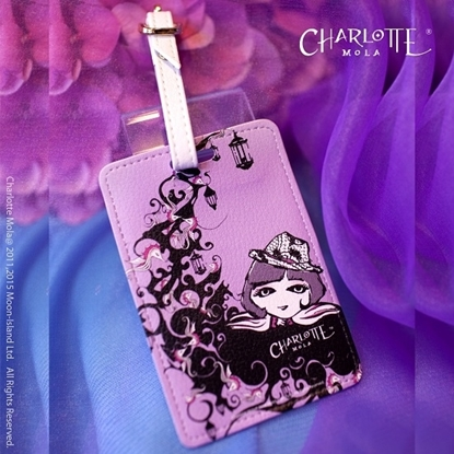 Picture of Charlotte Mola Luggage Tag - Charlotte on the Moon