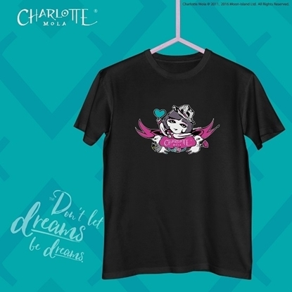 Picture of Charlotte Mola Short Sleeves Tee - Charlotte and Moonkii (Black) - L