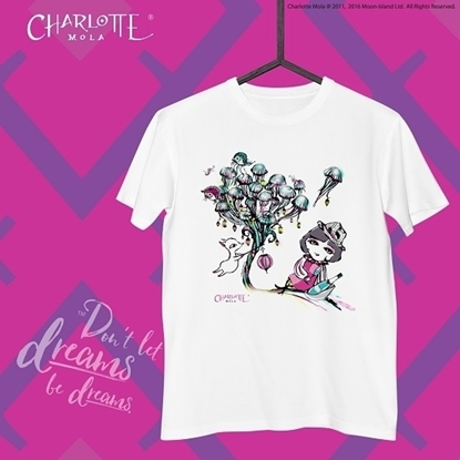 Picture of Charlotte Mola Short Sleeves Tee - Jelly Fish (White) - L