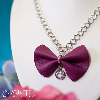 Picture of Charlotte Mola Leather Bow Short Necklace