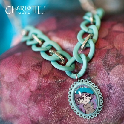 Picture of Charlotte Mola Blue Frosted Short Necklace