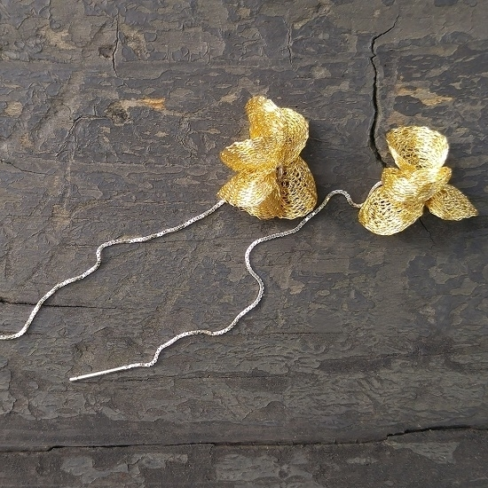 Picture of MIDOTI Riv Flow Earrings Gold