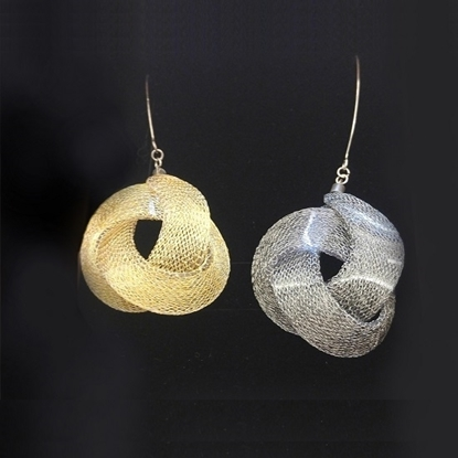 Picture of MIDOTI Knot Lots Earrings 2.0 Gold & Charcoal