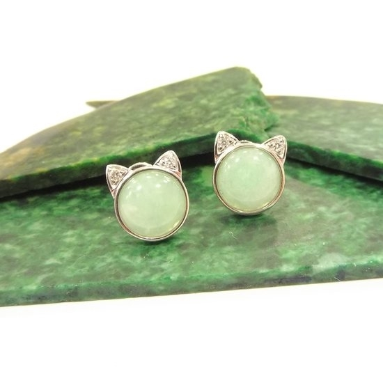 Picture of Anita So Cat jadeite earrings