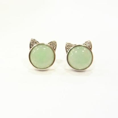 Picture of Anita So Cat jadeite earrings (B)