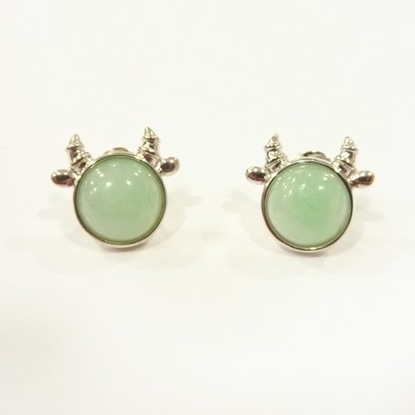 Picture of Anita So Cow jadeite earrings