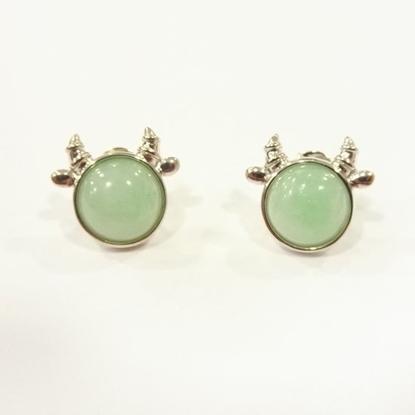 Picture of Anita So Cow jadeite earrings (B)