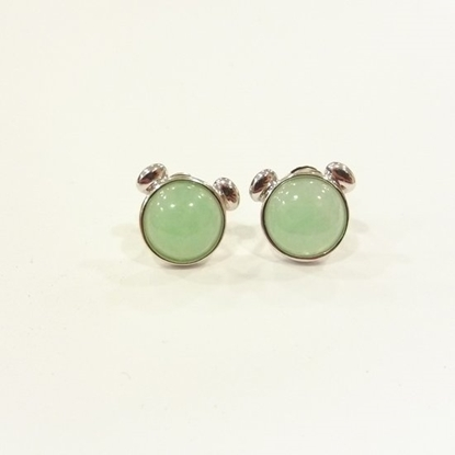 Picture of Anita So Bear jadeite earrings