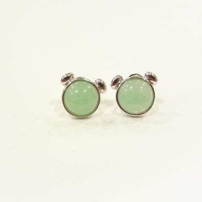 Picture of Anita So Bear jadeite earrings (B)