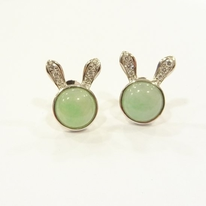 Picture of Anita So Rabbit jadeite earrings