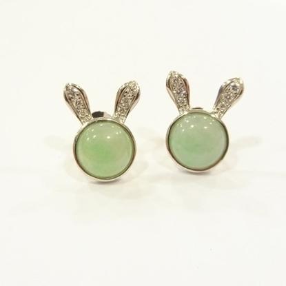 Picture of Anita So Rabbit jadeite earrings (B)