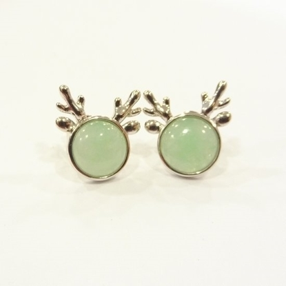 Picture of Anita So Deer jadeite earrings