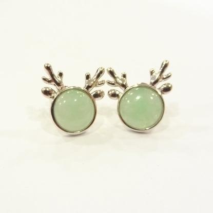 Picture of Anita So Deer jadeite earrings (B)