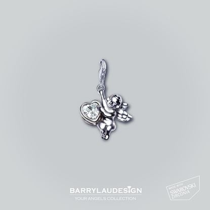 Picture of Barry Lau Design - 'Give Heart Angel' Charm (White)