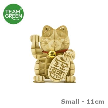 Picture of Maneki-neko Lucky Cat 3D Plywood Puzzle (Small - 11cm) Team Green® JIGZLE®