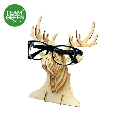 Picture of Deer Head Stand 3D Plywood Puzzle - Team Green® JIGZLE®