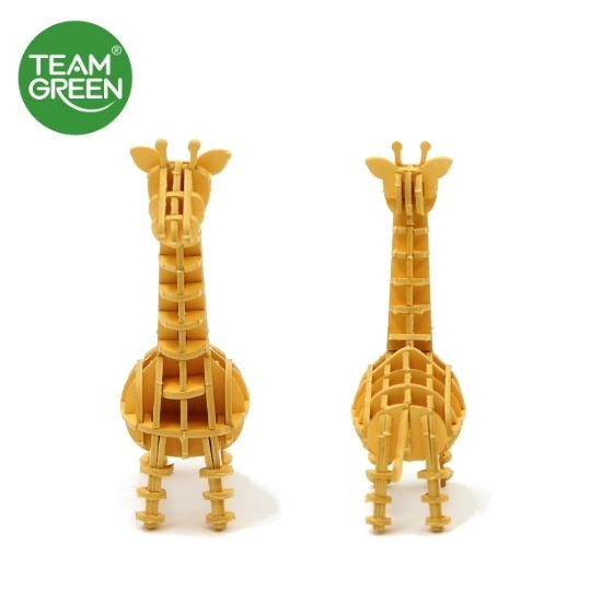 Picture of Giraffe + Elephant 3D Paper Puzzle - Team Green® JIGZLE®