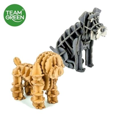 Picture of Toy Poodle + Schnauzer 3D Paper Puzzle - Team Green® JIGZLE®