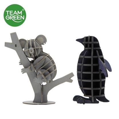 图片 企鹅 + 树熊 3D 立体纸拼图 - Team Green® JIGZLE®