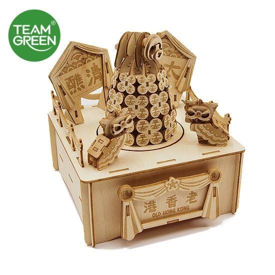 圖片 老香港 - 包山節音樂盒 3D 立體木拼圖 - Team Green® JIGZLE®