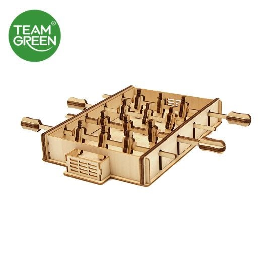 Picture of Game Station: Football Machine 3D Plywood Puzzle - Team Green® JIGZLE®