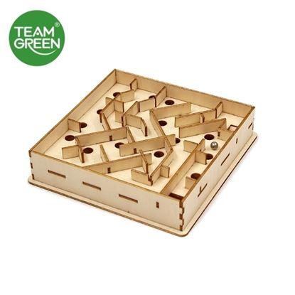 圖片 傳統迷宮 3D 立體木拼圖 - Team Green® JIGZLE®