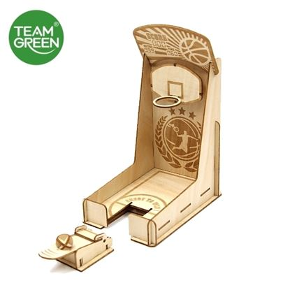 Picture of Game Station: Basketball Machine 3D Plywood Puzzle - Team Green® JIGZLE®