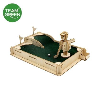 圖片 高爾夫球機 3D 立體木拼圖 - Team Green® JIGZLE®