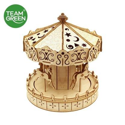 图片 旋转木马 3D 立体木拼图 - Team Green® JIGZLE®