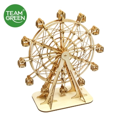 Picture of Ferris Wheel 3D Plywood Puzzle - Team Green® JIGZLE®